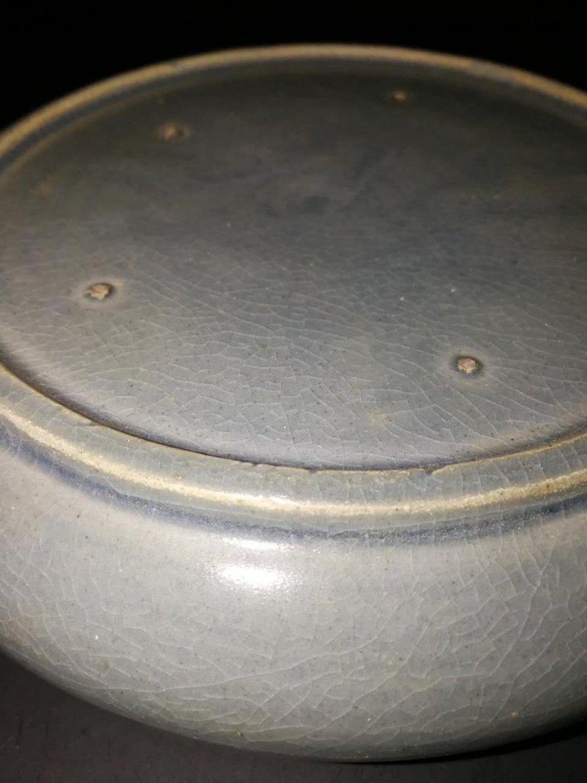 Antique Chinese Longquan kiln porcelain brush washer - 6