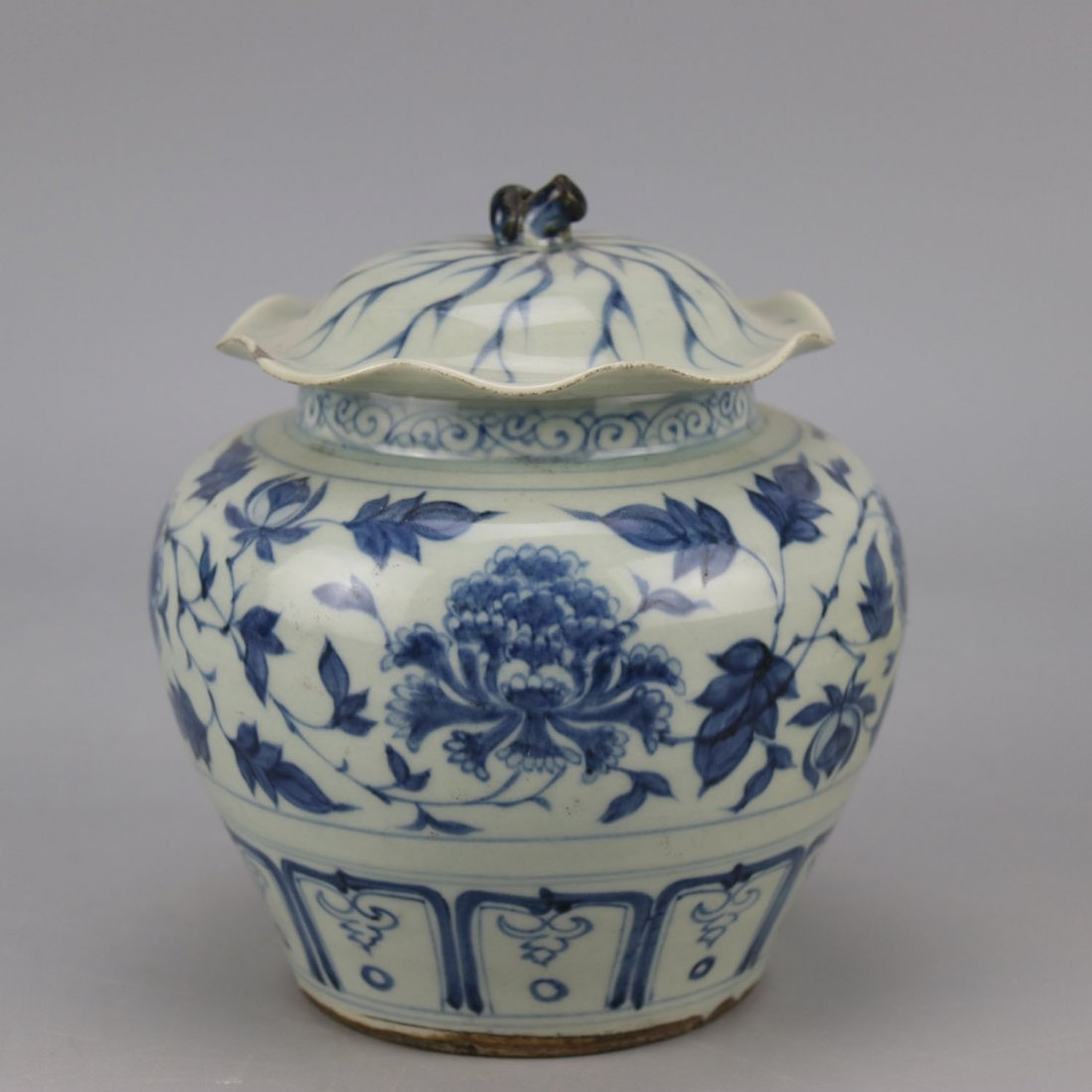 Chinese Porcelain Blue and White Jar - 4