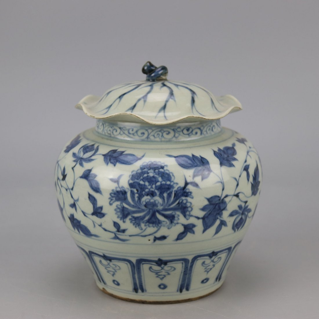 Chinese Porcelain Blue and White Jar - 6
