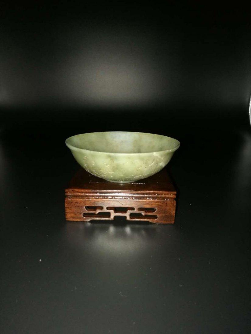 Chinese Thin Hetian Jade Jade Bowl - 3