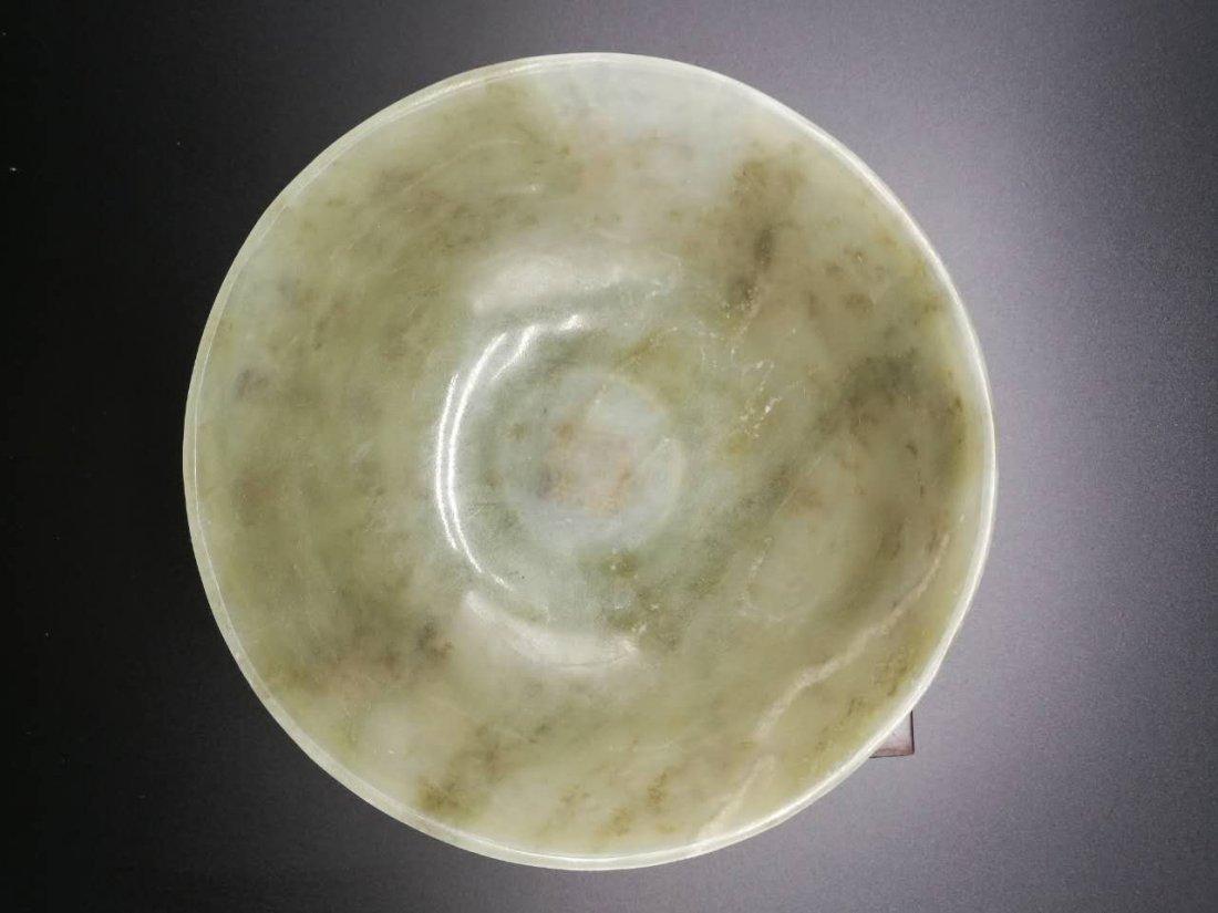 Chinese Thin Hetian Jade Jade Bowl - 6