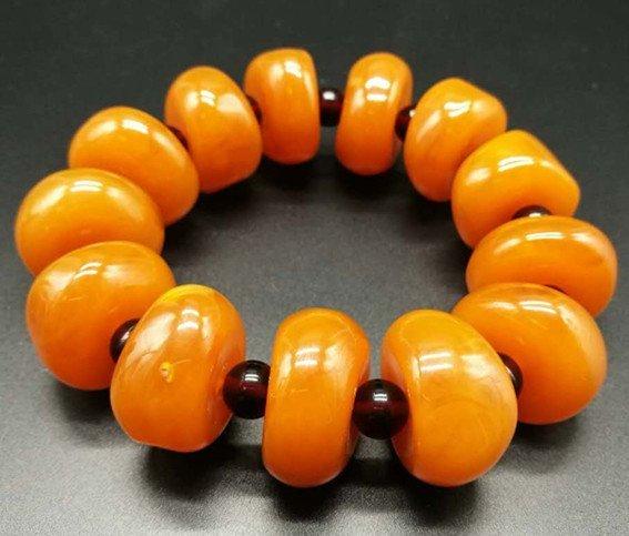 Chinese Amber Bracelet - 4