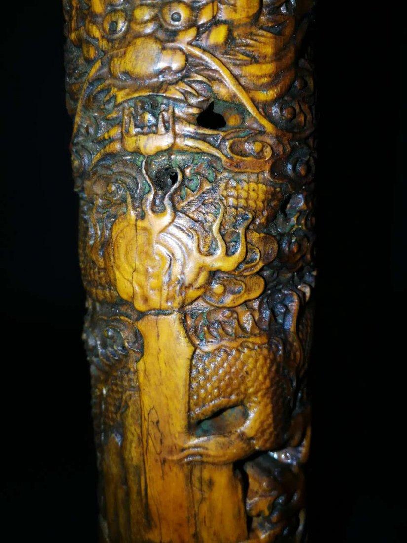 Chinese Bamboo Incense tubular - 3