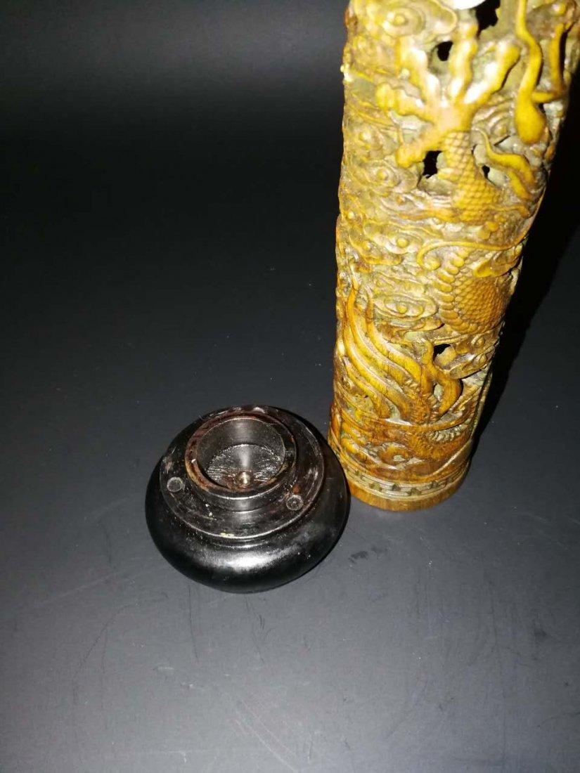 Chinese Bamboo Incense tubular - 4