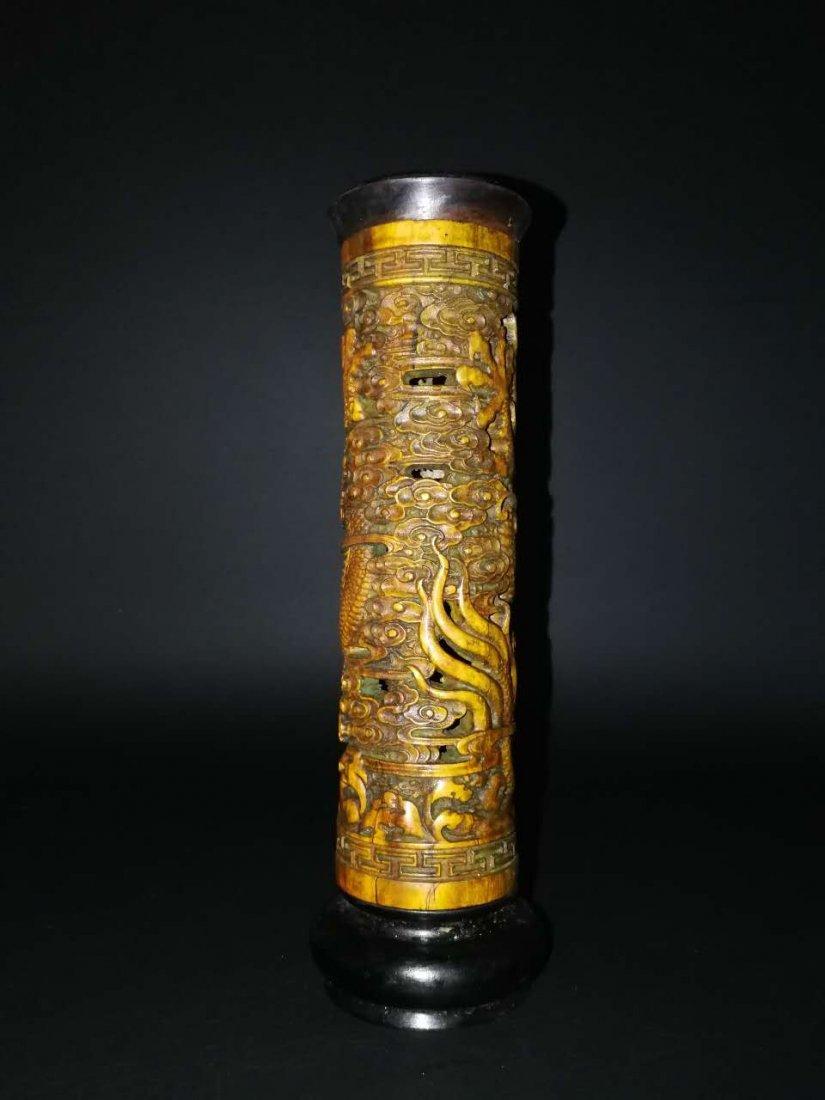 Chinese Bamboo Incense tubular - 8