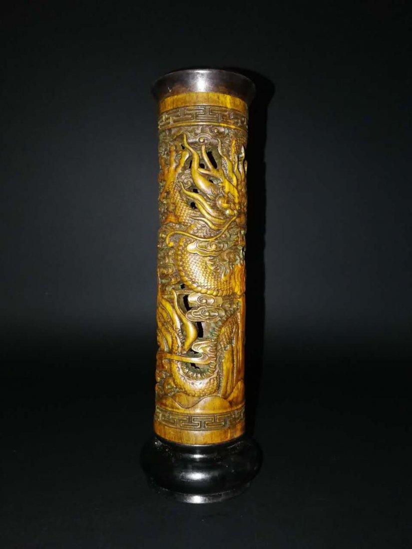 Chinese Bamboo Incense tubular - 9