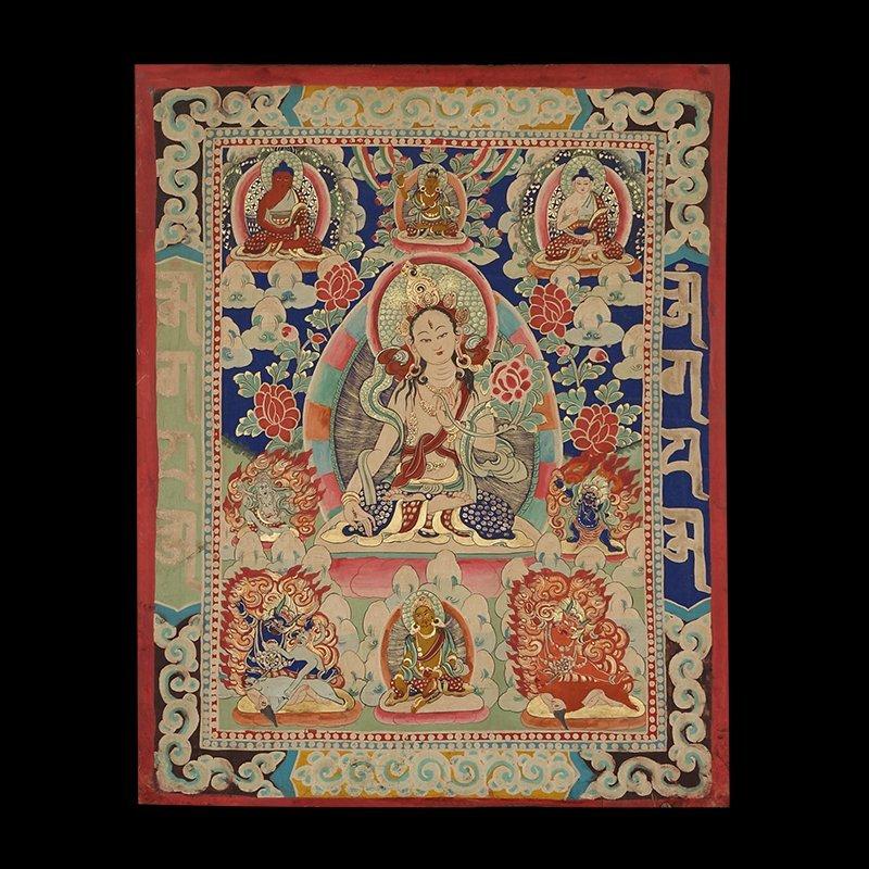 Buddhist Thangka. Tibet. Early 20th century