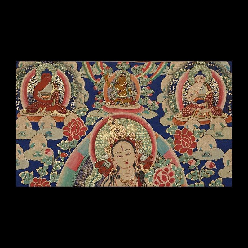 Buddhist Thangka. Tibet. Early 20th century - 3