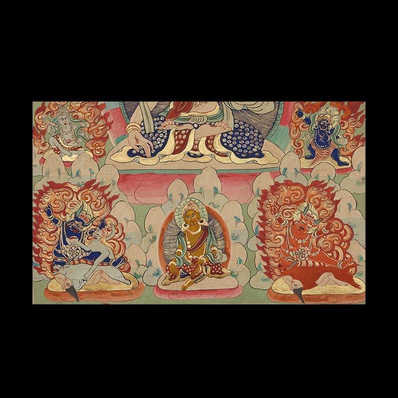 Buddhist Thangka. Tibet. Early 20th century - 4