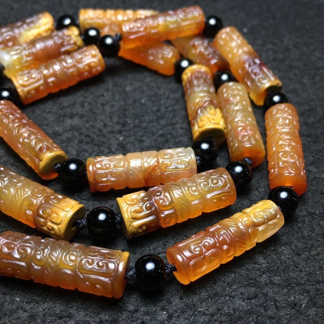 Chinese Qing Style Agate Necklace - 3