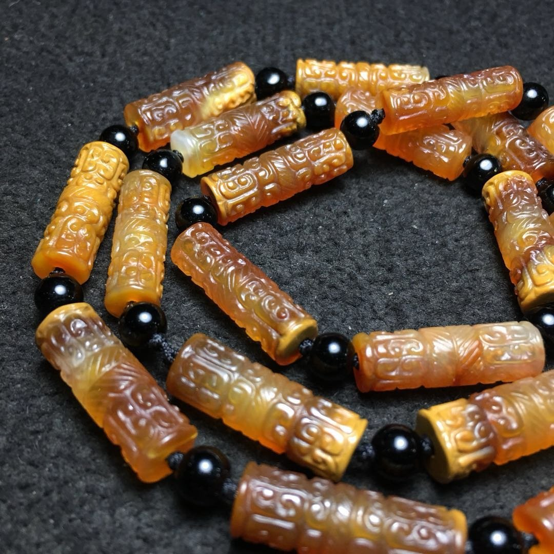 Chinese Qing Style Agate Necklace - 4