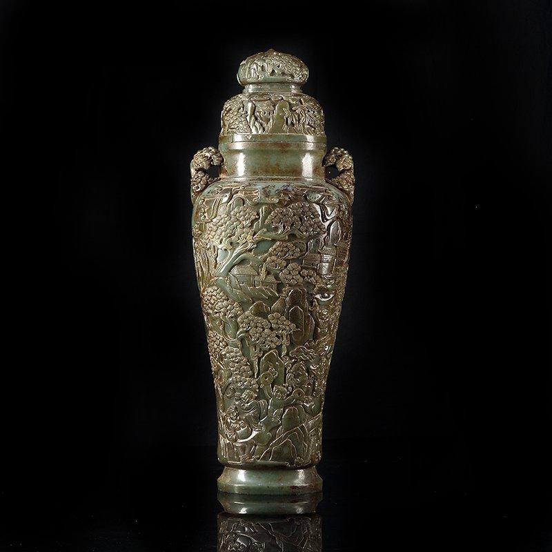 Chinese Jade Carved Vase