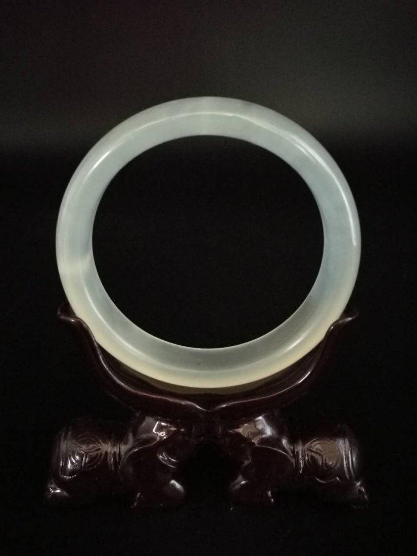 Chinese Jade Bangle Bracelets - 2