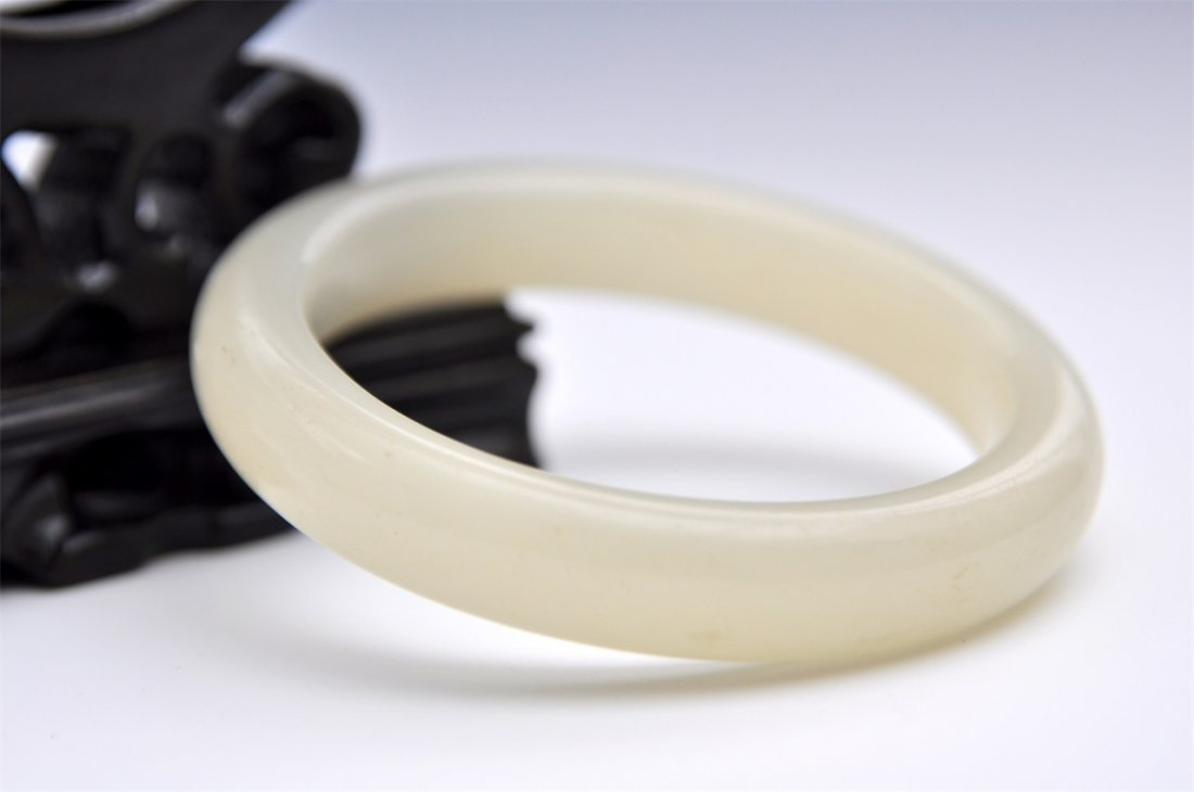 Chinese Jade Bangle Bracelets - 5
