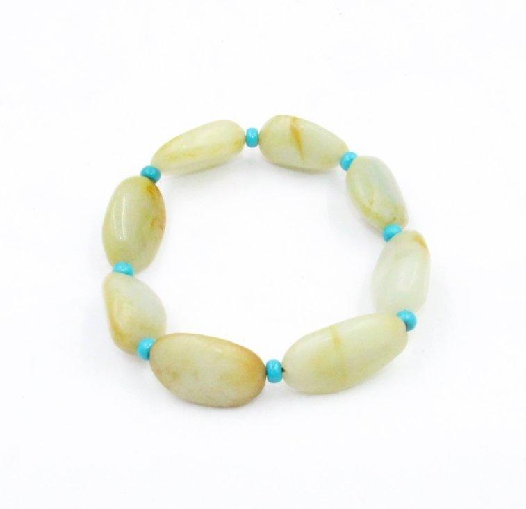 Chinese Hetian jade seed makings Bracelet
