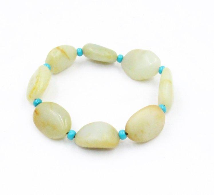 Chinese Hetian jade seed makings Bracelet - 4