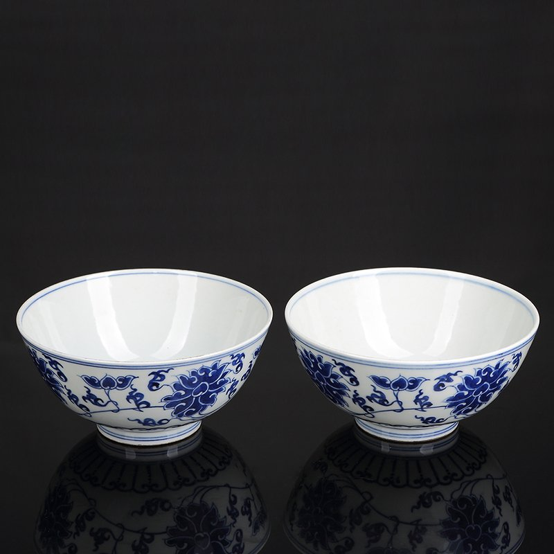 Pair of Chinese Blue And White Porcelain  Bowls - 3