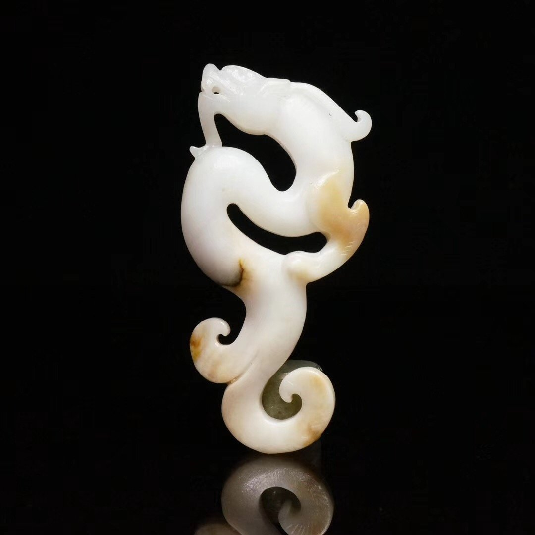 Chinese Qing Dynasty  Jade Dragon