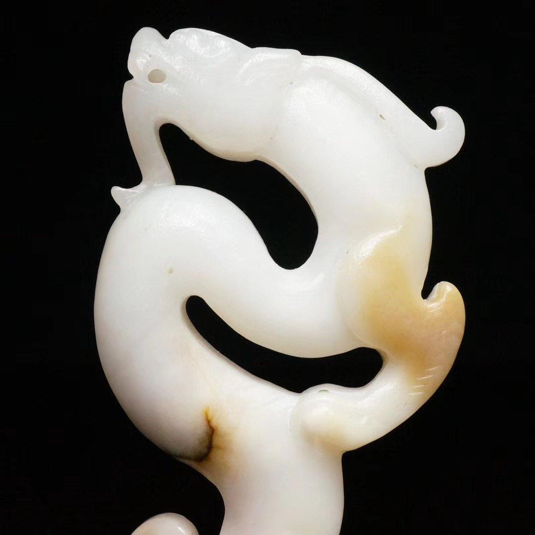 Chinese Qing Dynasty  Jade Dragon - 2