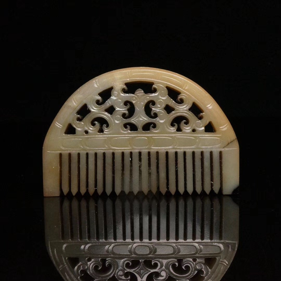 Chinese Han Dynasty Dragon Jade Comb