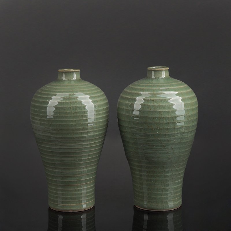 Pair of Chinese Longchun kiln Porcelain Vases
