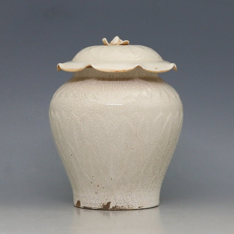 Chinese Song Dynasty Ding Kiln Porcelain Jar