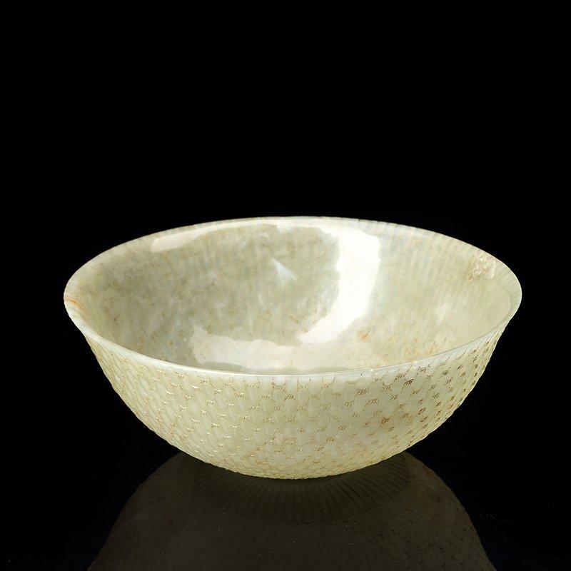 Chinese Qing Dynasty  Hetian jade bowl - 3