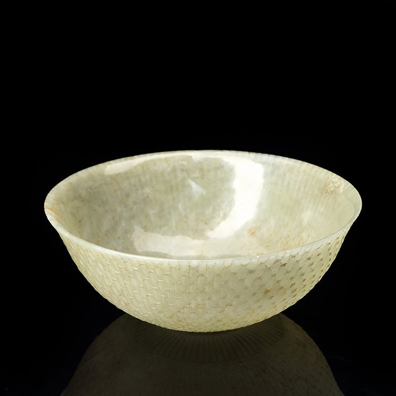 Chinese Qing Dynasty  Hetian jade bowl - 3