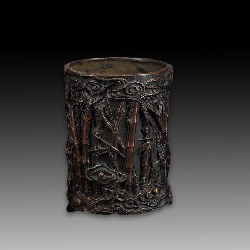 Chinese Bronze Brush Pot