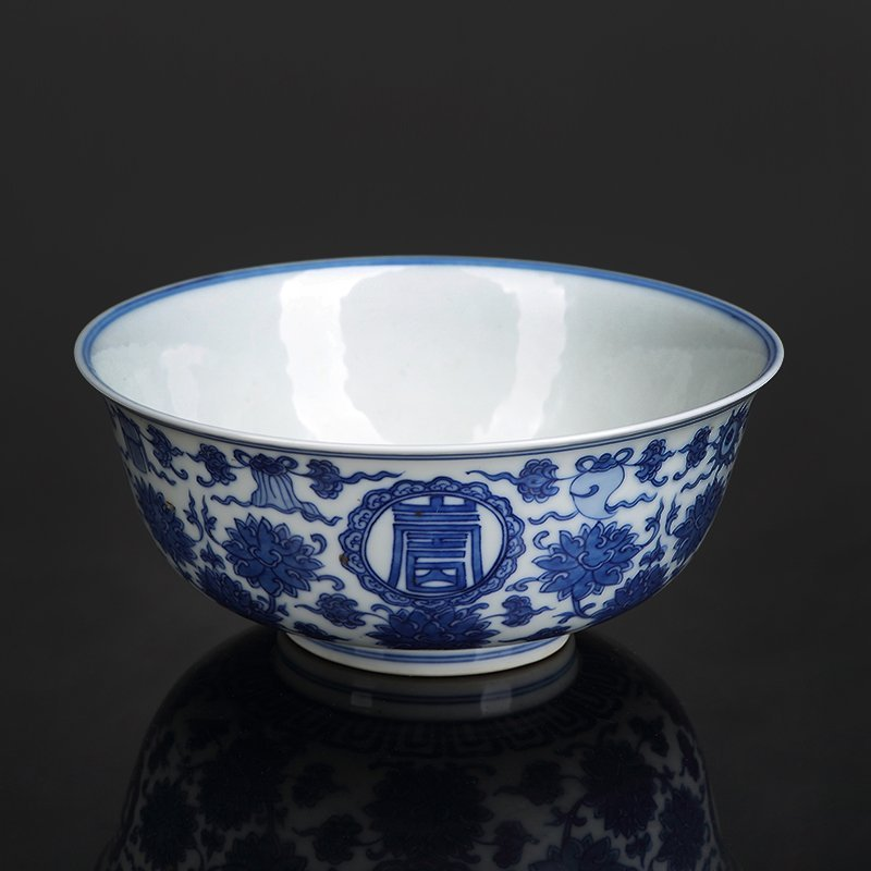Chinese Qinglong period blue & white bowl
