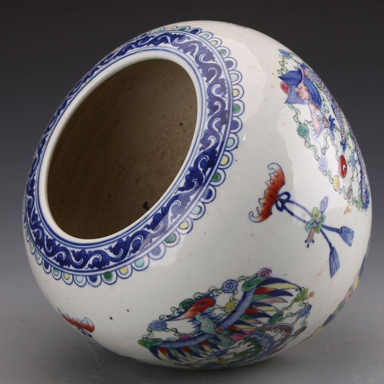 Chinese Qing kangxi Dragon and Phoenix Jar - 3