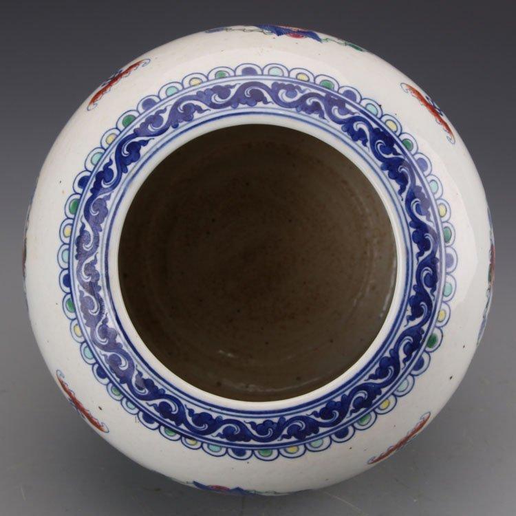 Chinese Qing kangxi Dragon and Phoenix Jar - 5