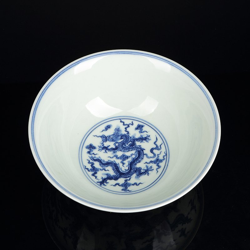 Chinese Blue And White Dragon Porcelain bowl