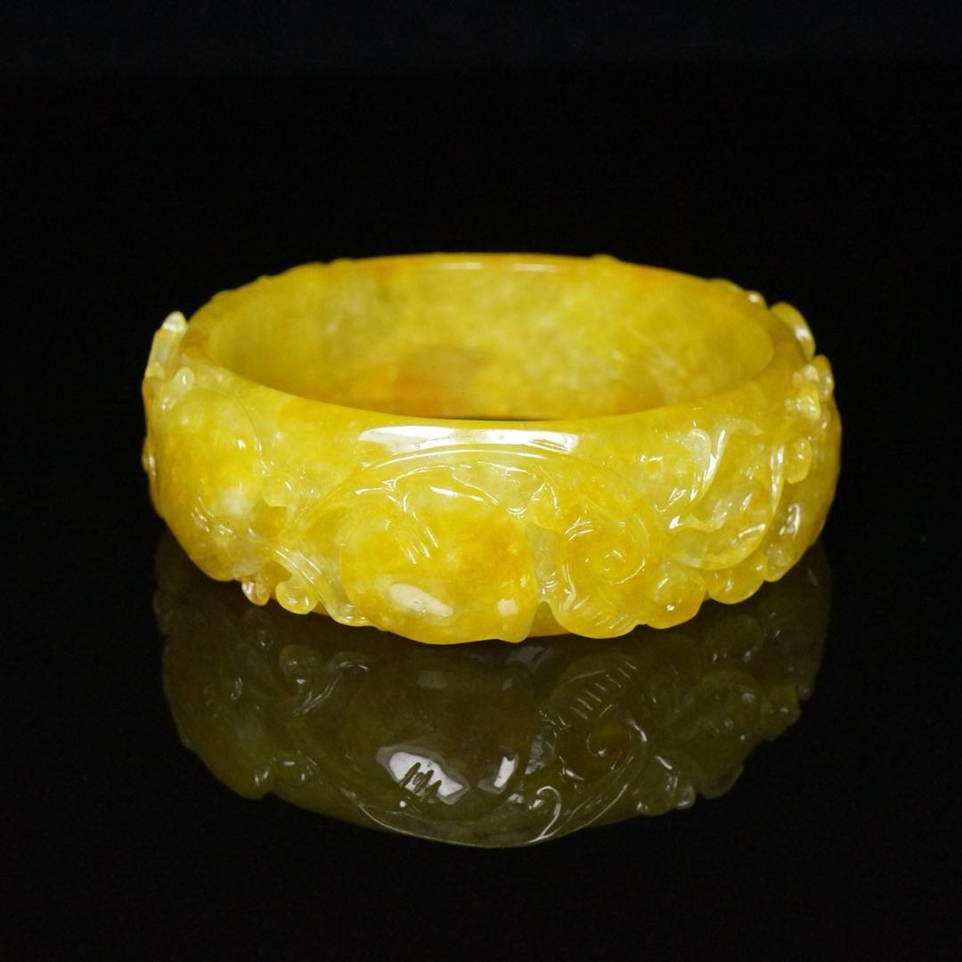 Chinese Qing Dynasty Jade Bracelet - 5
