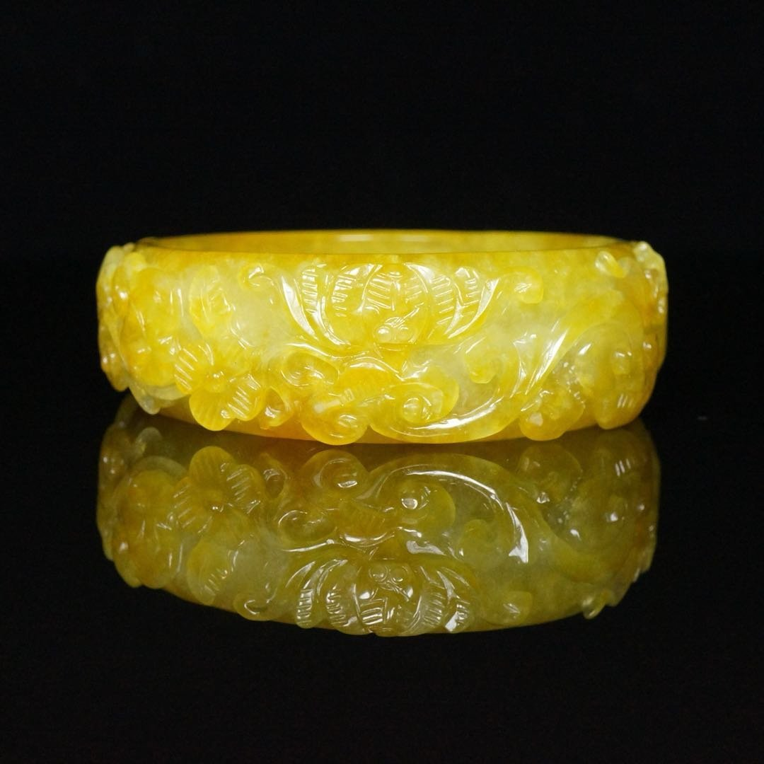 Chinese Qing Dynasty Jade Bracelet - 6