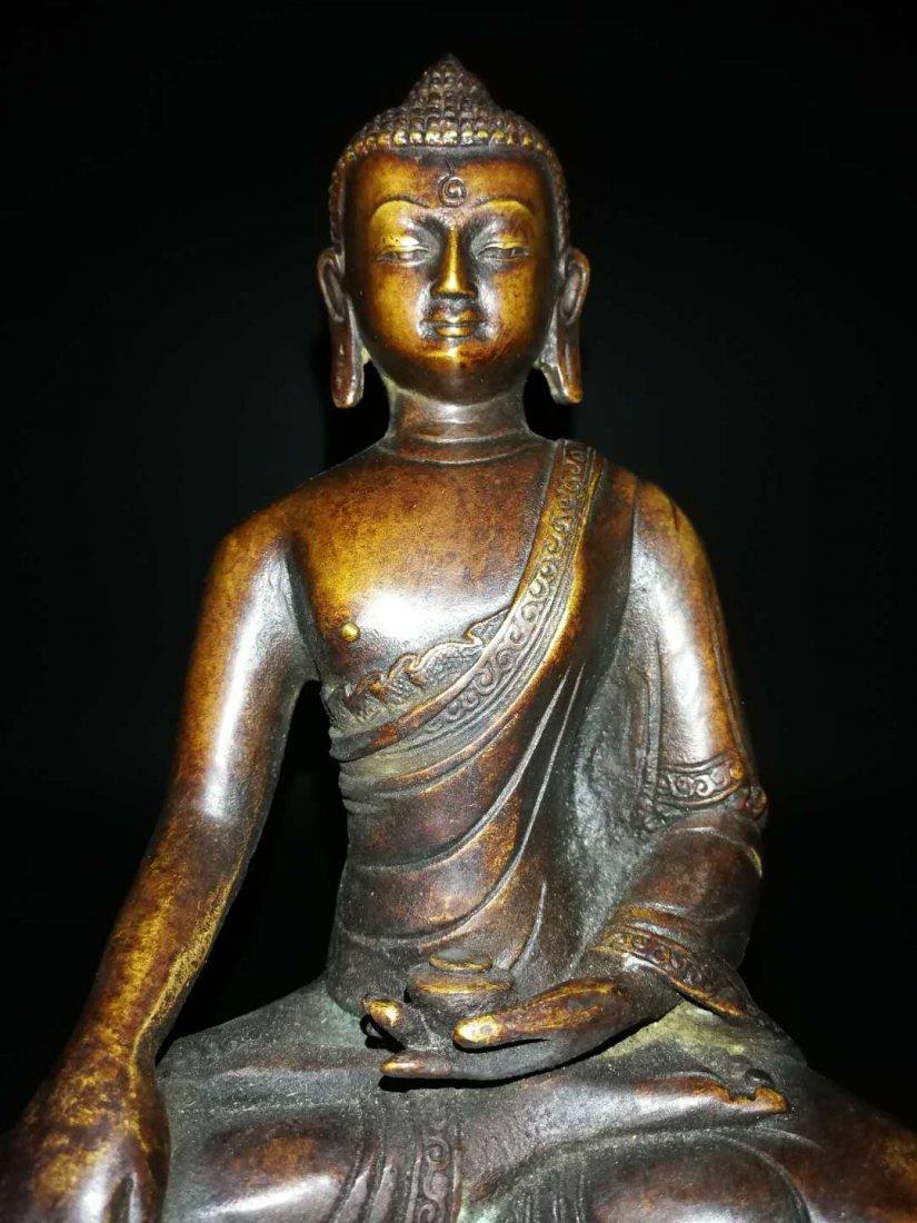 Chinese Qing Dynasty Tibetan Bronze Buddh - 2