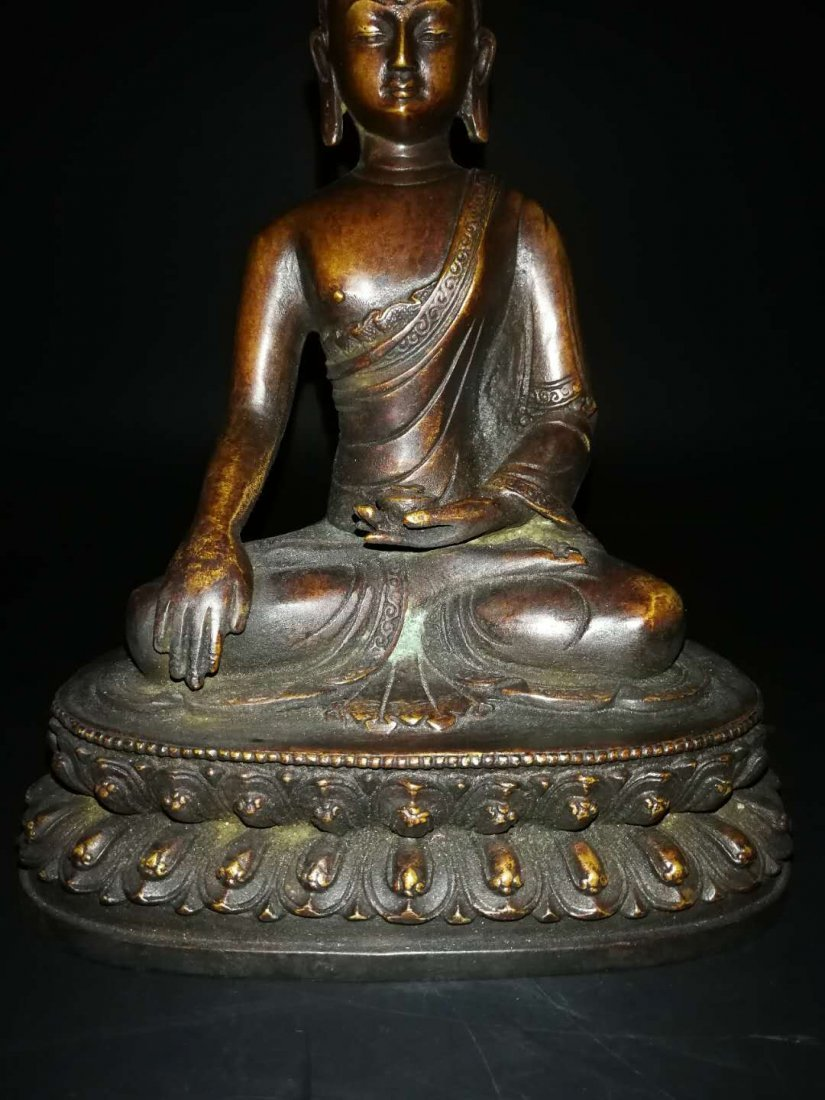 Chinese Qing Dynasty Tibetan Bronze Buddh - 3