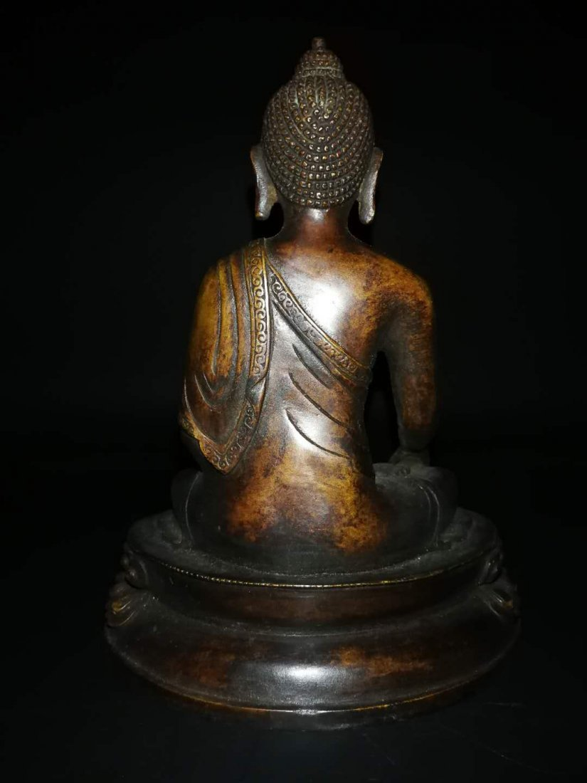 Chinese Qing Dynasty Tibetan Bronze Buddh - 5