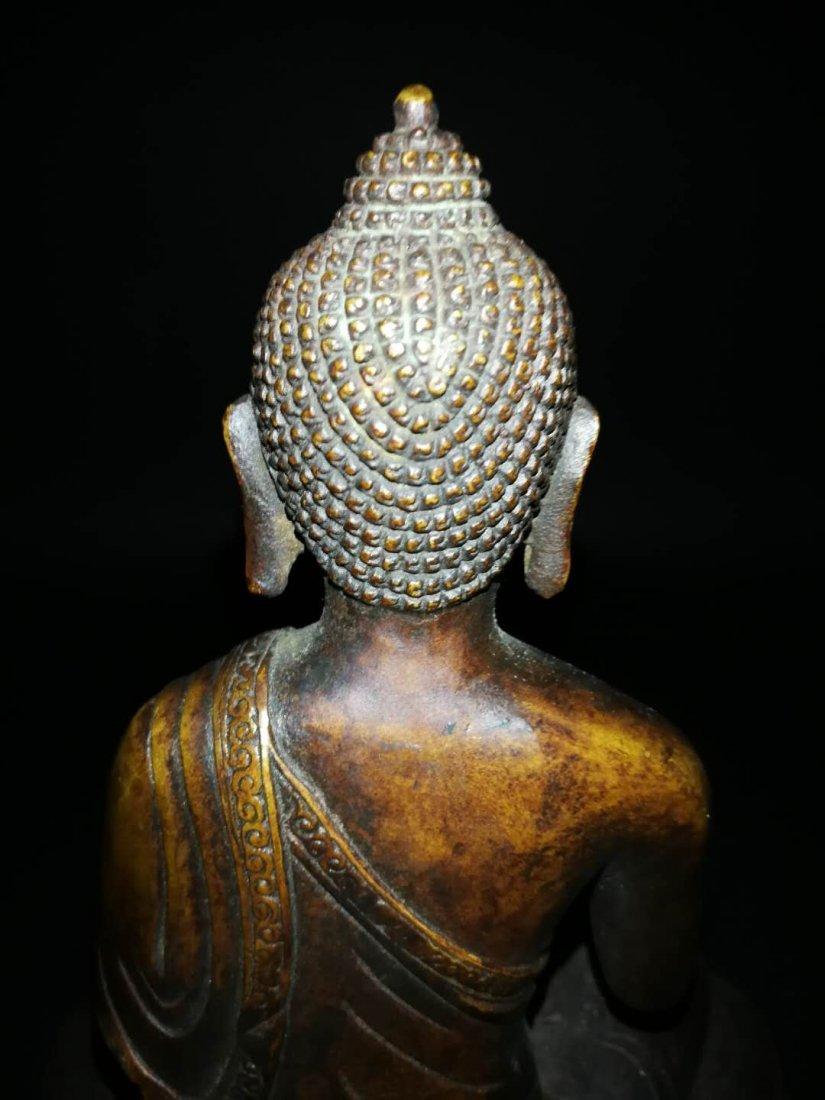 Chinese Qing Dynasty Tibetan Bronze Buddh - 6
