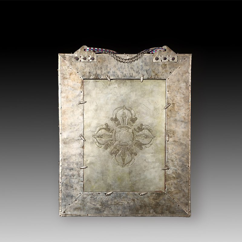 Chinese Qing dynasty old Buddha silver of Mandala - 4
