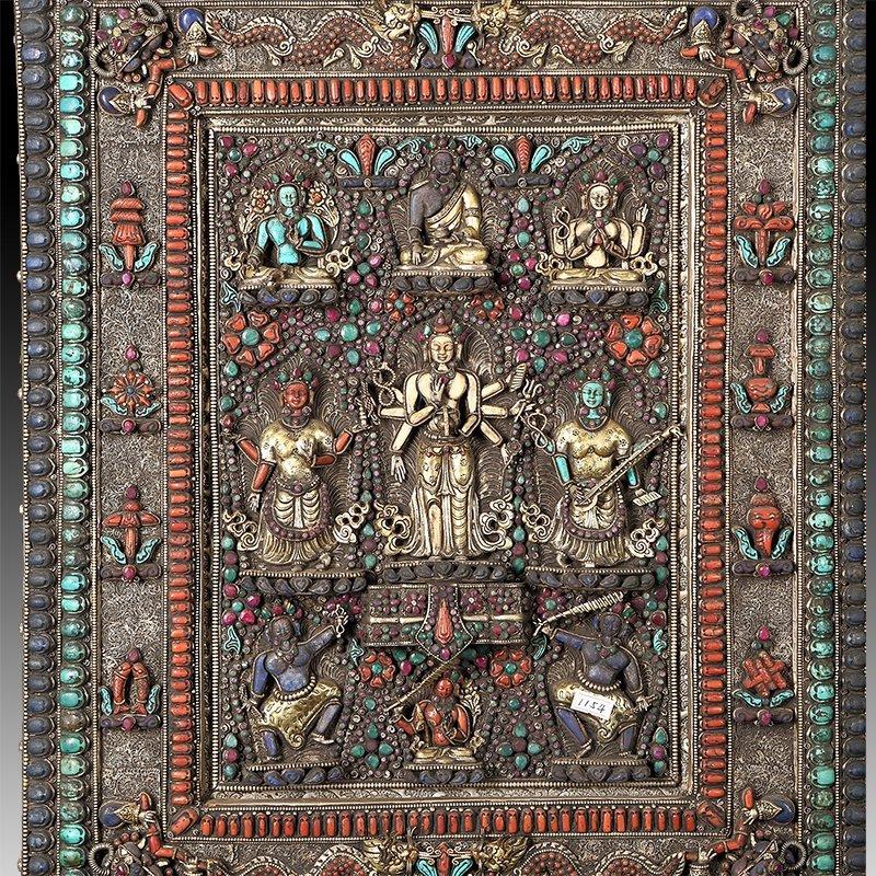 Chinese Qing dynasty old Buddha silver of Mandala - 5
