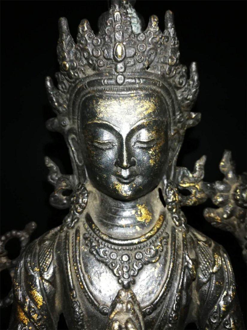 Chinese Tibetan Gilt Buddha - 4