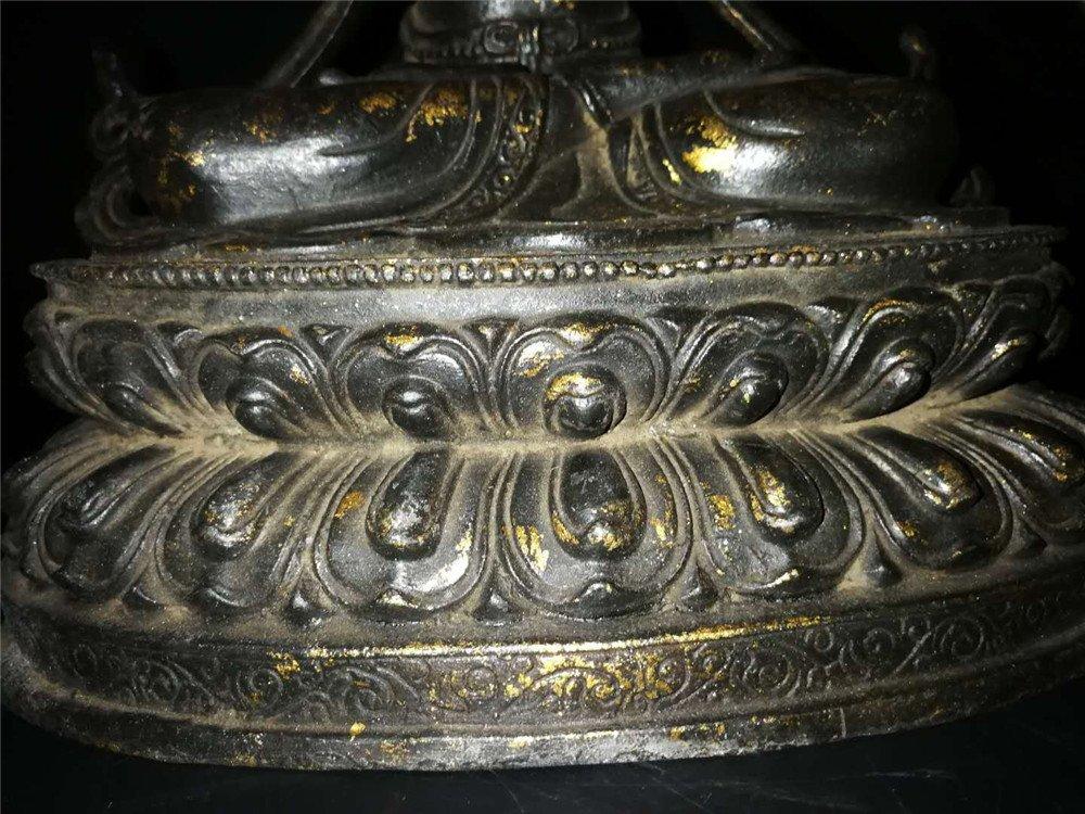 Chinese Tibetan Gilt Buddha - 6