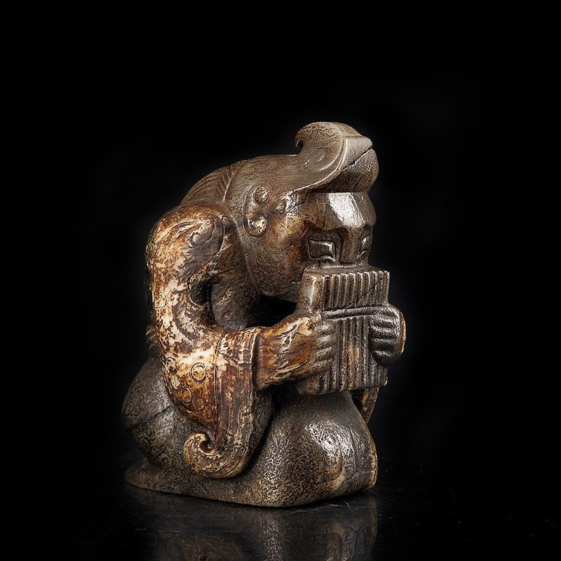 Ancient Chinese  Jade Figure - 4