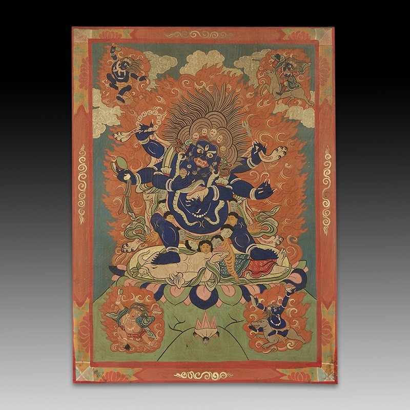 Chinese Qing Dynasty Painting Buddhist Thangka