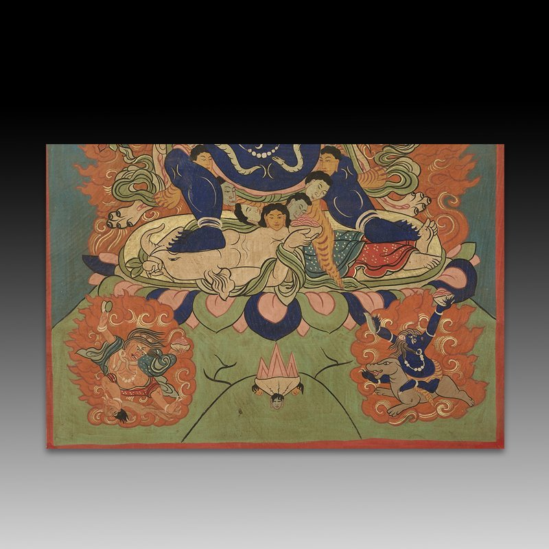 Chinese Qing Dynasty Painting Buddhist Thangka - 5