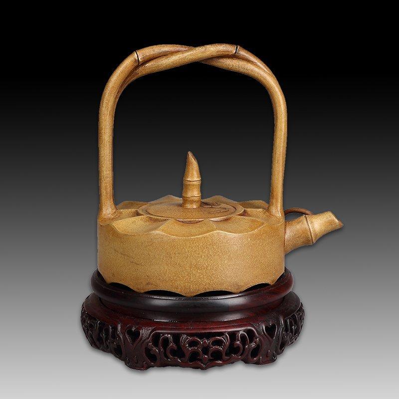 Chinese zisha teapot and cover.(Mark of Gu jingzhou) - 2