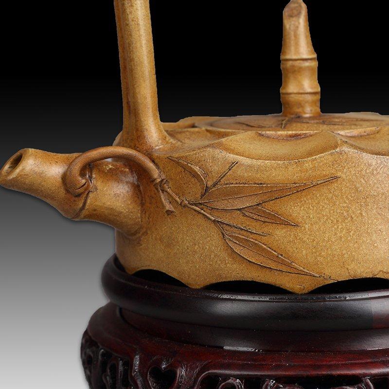 Chinese zisha teapot and cover.(Mark of Gu jingzhou) - 4