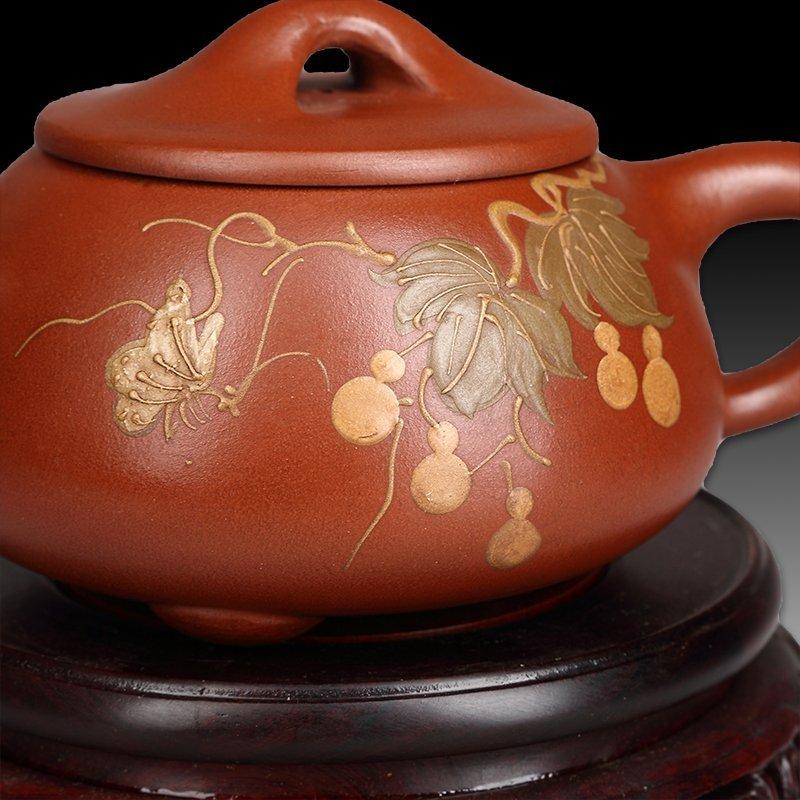 Chinese zisha teapot and cover.(Mark of Gu jingzhou) - 3