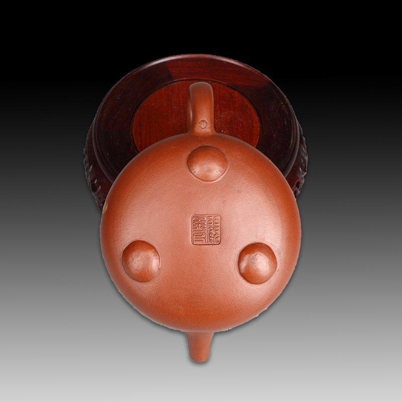 Chinese zisha teapot and cover.(Mark of Gu jingzhou) - 5